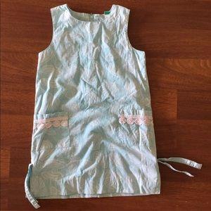 Lilly Pulitzer Girls youth shift dress shells 6